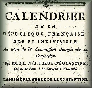 Calendrier Republicain 1793.Calendrier Revolutionnaire